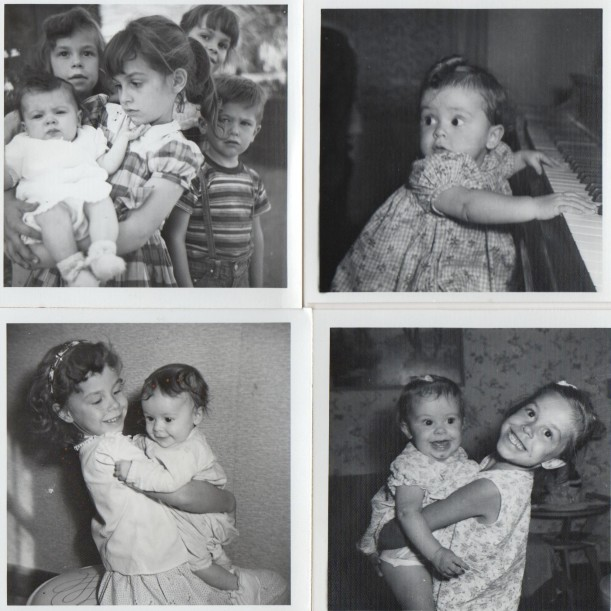 Lois as a baby, and with me holding her in the bottom two photos.